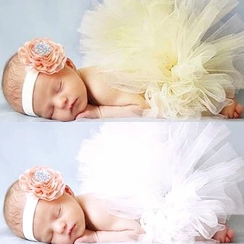 Bayi Yang Baru Lahir Fotografi Props Kostum Pakaian Putri Tutu Rok Ikat Kepala Aksesoris