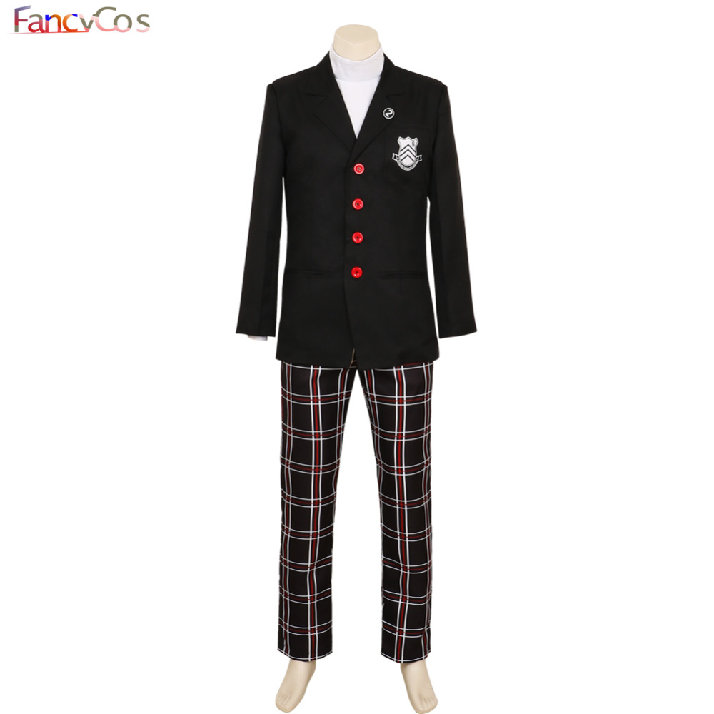 Halloween Game Persona 5 Cosplay Uniform Joker Costume Protagonist Uniform Coat Shirt Adult High Quality Custom Made