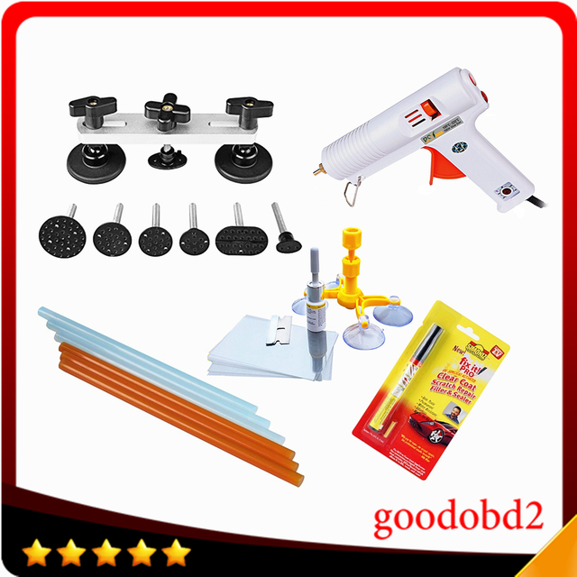 PDR Dent Pulling Bridge Removal Hand Tool Sets PDR Tools Paintless Dent Repair Puller Glue Sticks car paint scratch repair pen