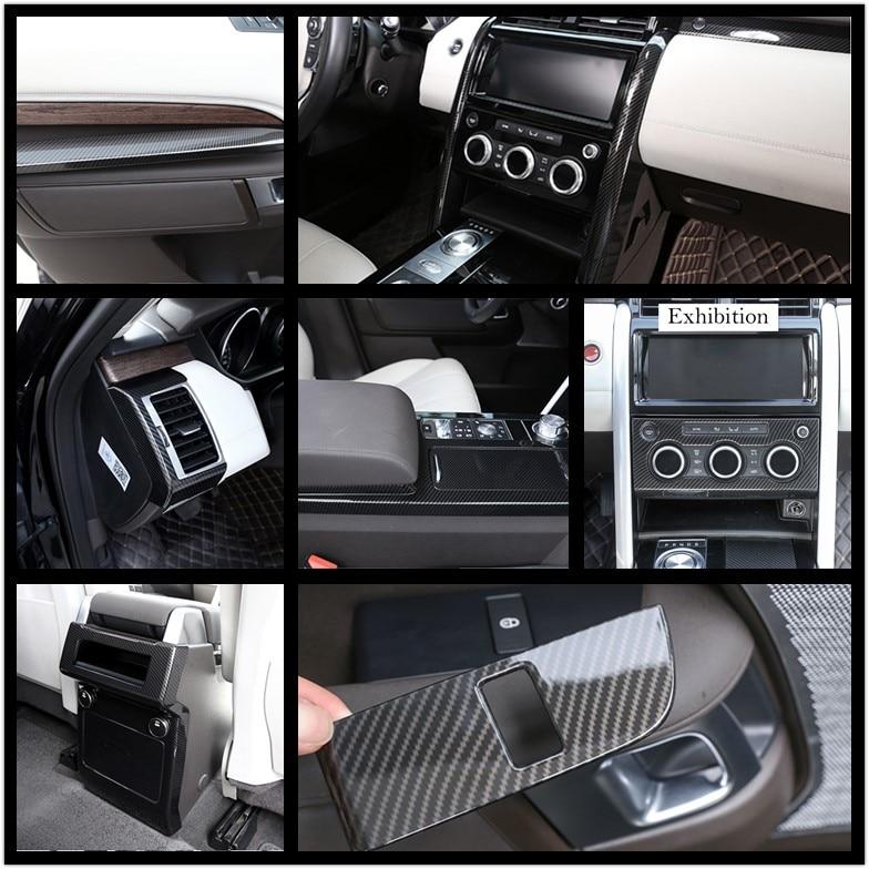 Carbon Fiber ABS Chrome Interior Center Cover Trim Car