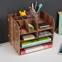 Office supplies large desktop drawer storage box wooden file frame wooden file frame data racks
