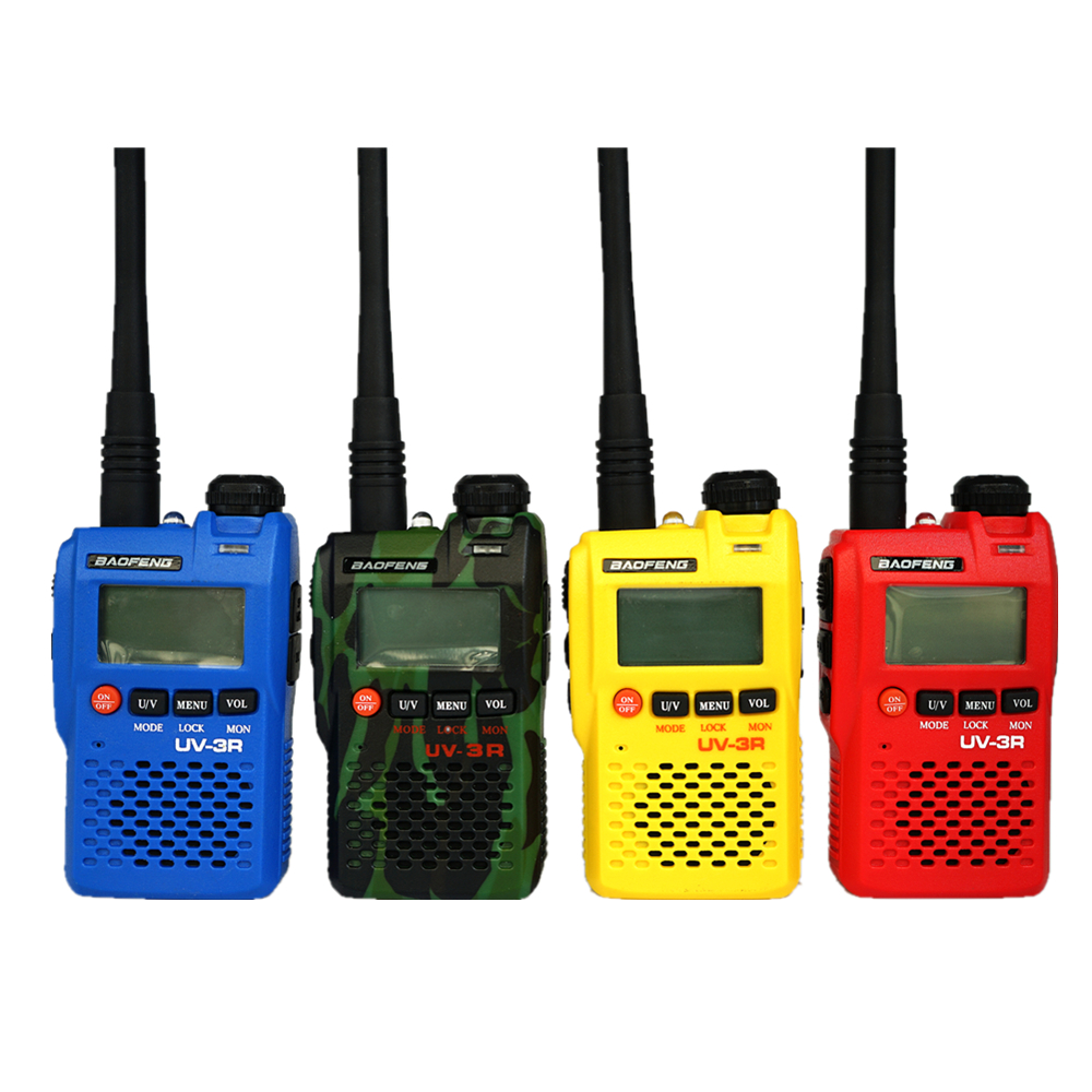 Baofeng Two-way Radio UV-3R Dual Band FM Transmitter UV3R Walkie Talkie Portable CB Radio Mini Ham Radio Wireless Intercom