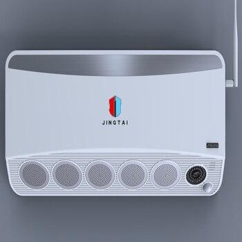 Sistema de vigilancia de vídeo de cámara IP HD 5MP con generador de humo por botones de emergencia, mando a distancia móvil para máx. 150 metros cuadrados