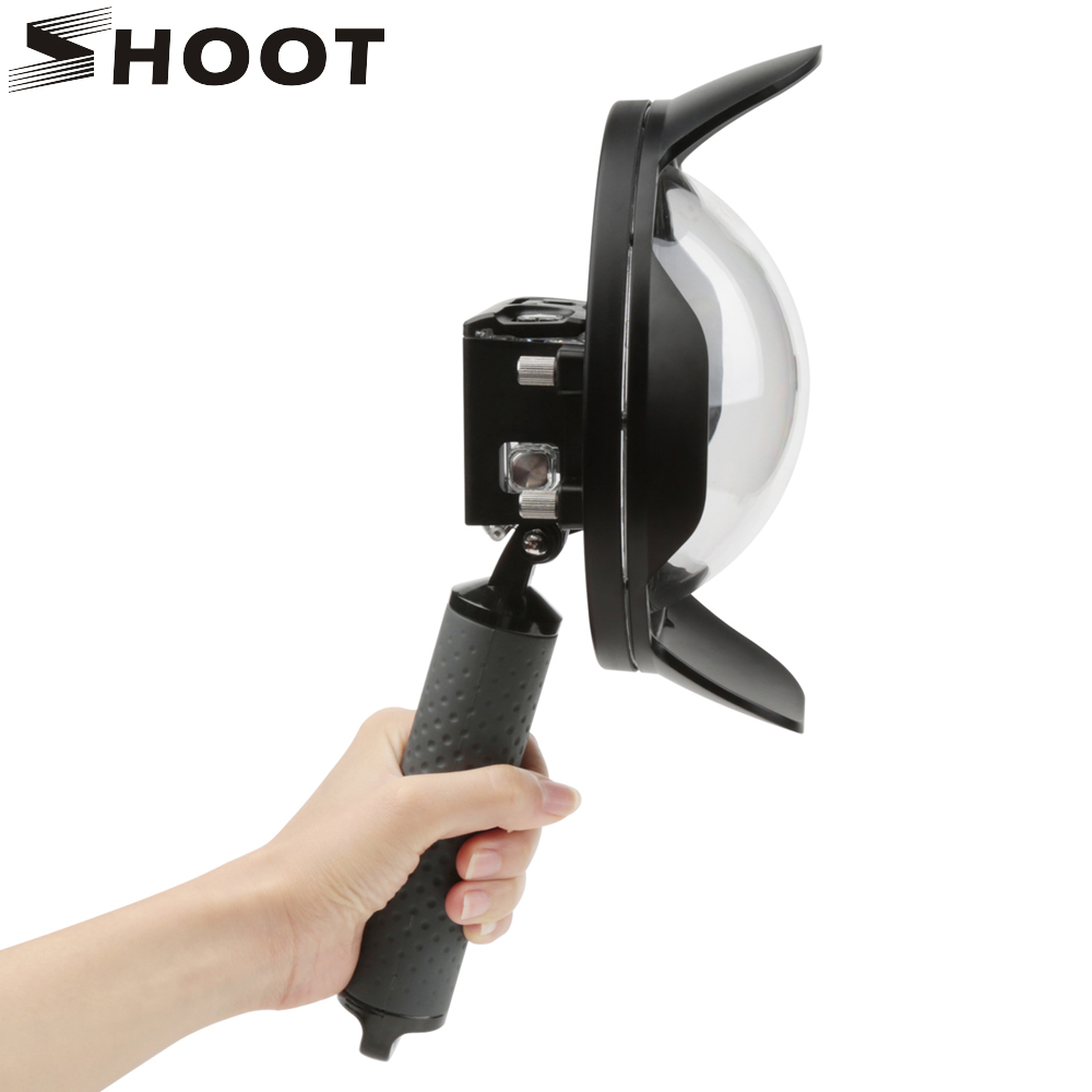 TIRER 6 pouces Dôme pour Gopro Hero 7 6 5 Noir Avec Boîtier Étanche Pour Go Pro 7 6 5 lentille Dôme Port D'action accessoire d'appareil photo