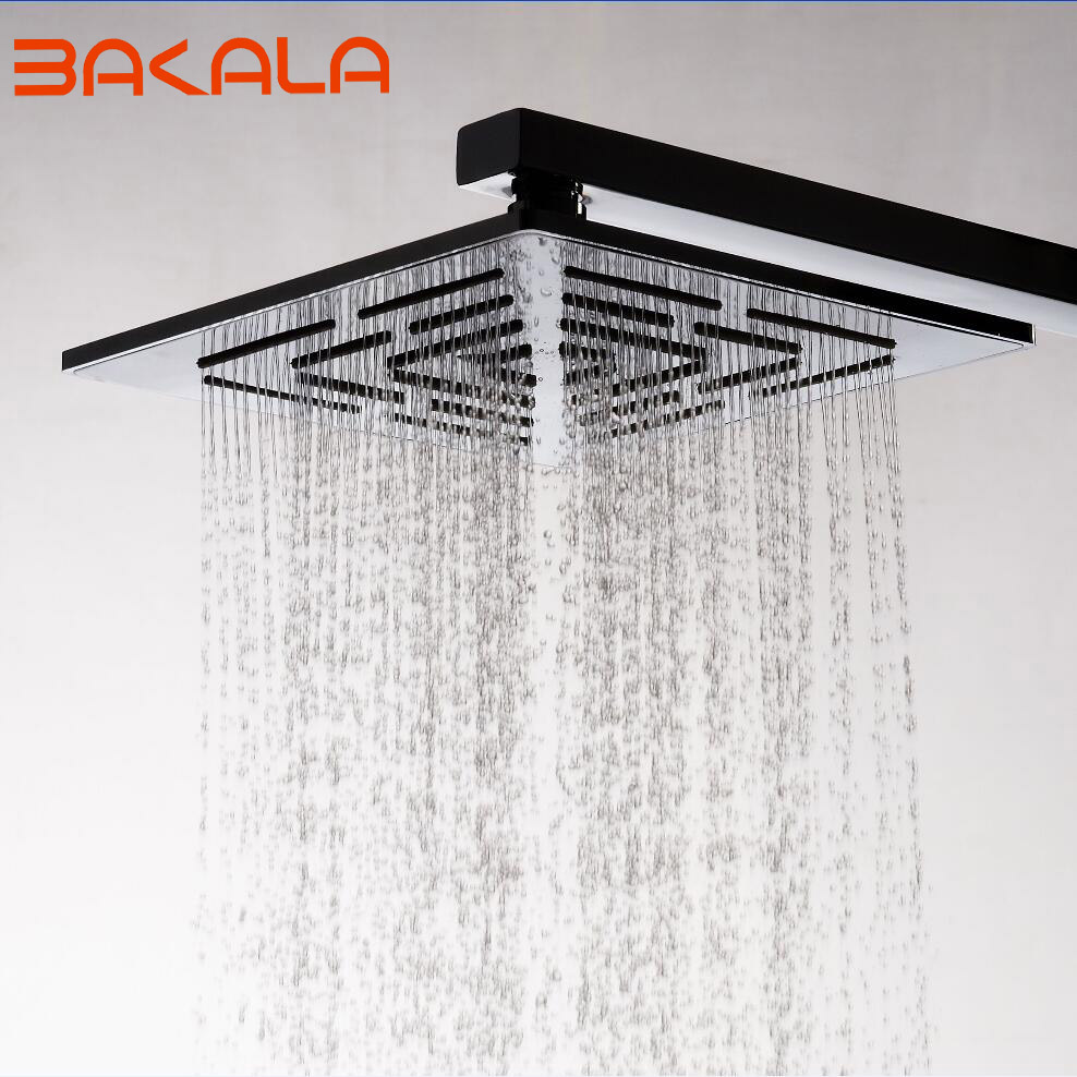 12 Inch (30 CM) Stainless Steel Square Rain Shower Head. 556 Holes Water Out Rainfall Shower heads (Not Including Shower Arm)