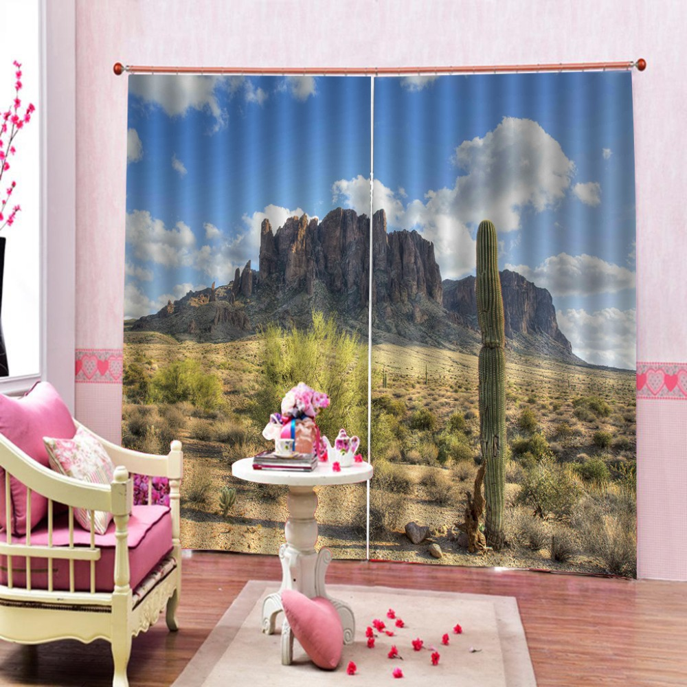 2019 3D Curtains Living Room Bedroom Hotel Window desert Printing Blackout Curtains  2019 3D Curtains Living Room Bedroom Hotel Window desert Printing Blackout Curtains