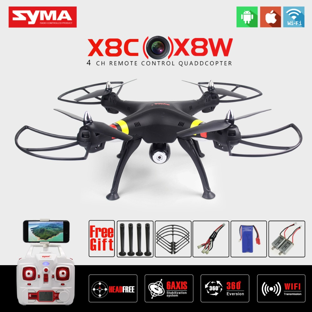 SYMA X8W WIFI FPV RC Quadcopter Professional 2.4G 6-Axis Syma X8C RC Drone With 2MP Camera HD RC Helicopter with VS Syma X8HG syma x8w fpv rc quadcopter drone with wifi camera 2 4g 6axis dron syma x8c 2mp camera rtf rc helicopter with 2 battery vs x101