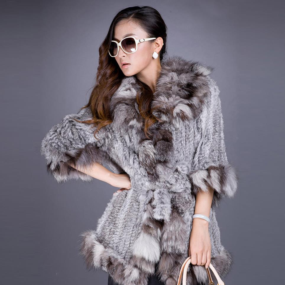 aac3438a6b0b2 Detail Feedback Questions about Fur Story 010140 New Women s Fashion Real  Fur Coat with Real Fox Fur Dege Luxury Winter Jacket Women Knitted Coats on  ...