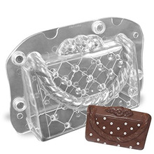 ANDES DIY 3D Ladys Bag Chocolate Mold Homemade Stereo Lady Handbag Candy Jelly Polycarbonate Decoration Baking Tools