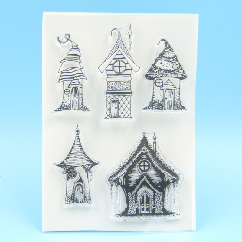 Fairy House Transparent Clear Stamp For DIY Scrapbooking/Card Making
