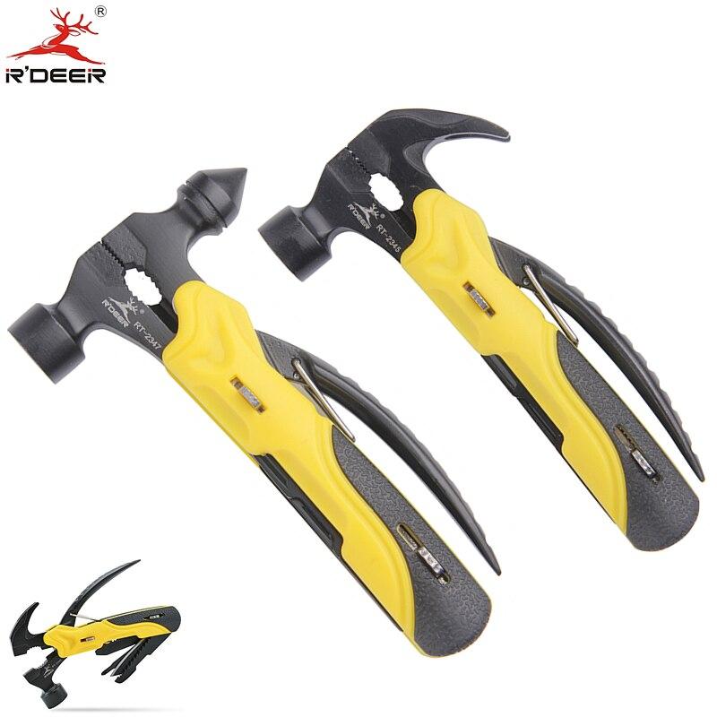 RDEER 7 in 1 ابزارهای چند منظوره پیچ گوشتی چاقو ابزارهای پیچ گوشتی چاقو مجموعه برای بقا در فضای باز کمپینگ ابزار دستی برای پیاده روی