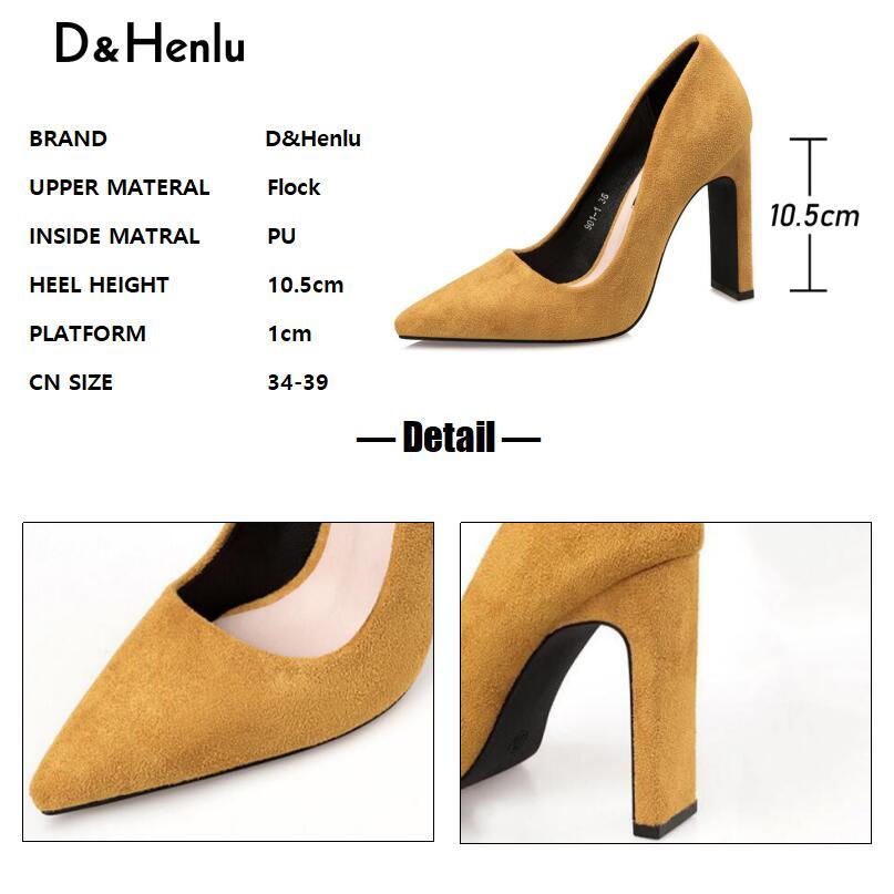 khaki Tacón Heels Del Tacones Heels yellow Alto 2018 Mujer De red Puntiagudo Dedo Henlu} Mujeres Para Gruesos amp; Las Heels {d Cuadrado Zapatos Pie Bombas Black Gamuza Heels qwFf8E1
