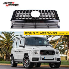 W463 GT Grille for Benz G Class ABS Gloss Black Front Bumper Mesh Kidney Grills G500 G55 G63 2013 + Auto Parts Car Styling