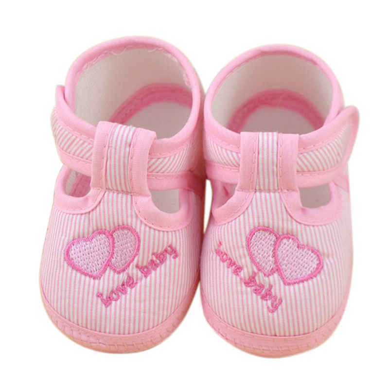 2017 KLV Hot Selling Fashion Baby Girl Shoes Tenis infantil Menina Newborn Girl Soft Sole Crib Toddler Shoes Canvas Sneaker