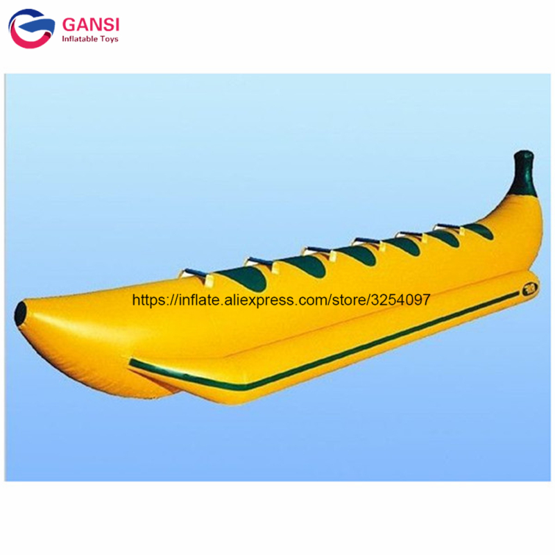 6 seats adults popular banana boat with free pump,China fly fish towable banana boat for water sports
