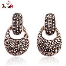 JURAN Factory Wholesale Women Fashion Crystal Drop Earrings Party Jewelry Brand Earrings Free Shipping 15 Styles