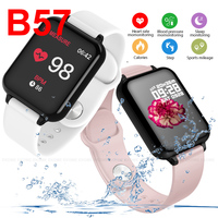 B57 Men Smart Watch IP67 Waterproof Smartwatch Heart Rate Monitor Multiple Sport Model Fitness Tracker Women Wearable Devices