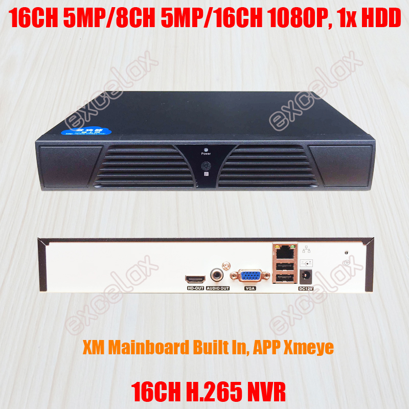 16 Channel H 265 NVR Network Video Recorder 1xHDD for 16CH 8CH 5MP 4MP 3MP 2MP