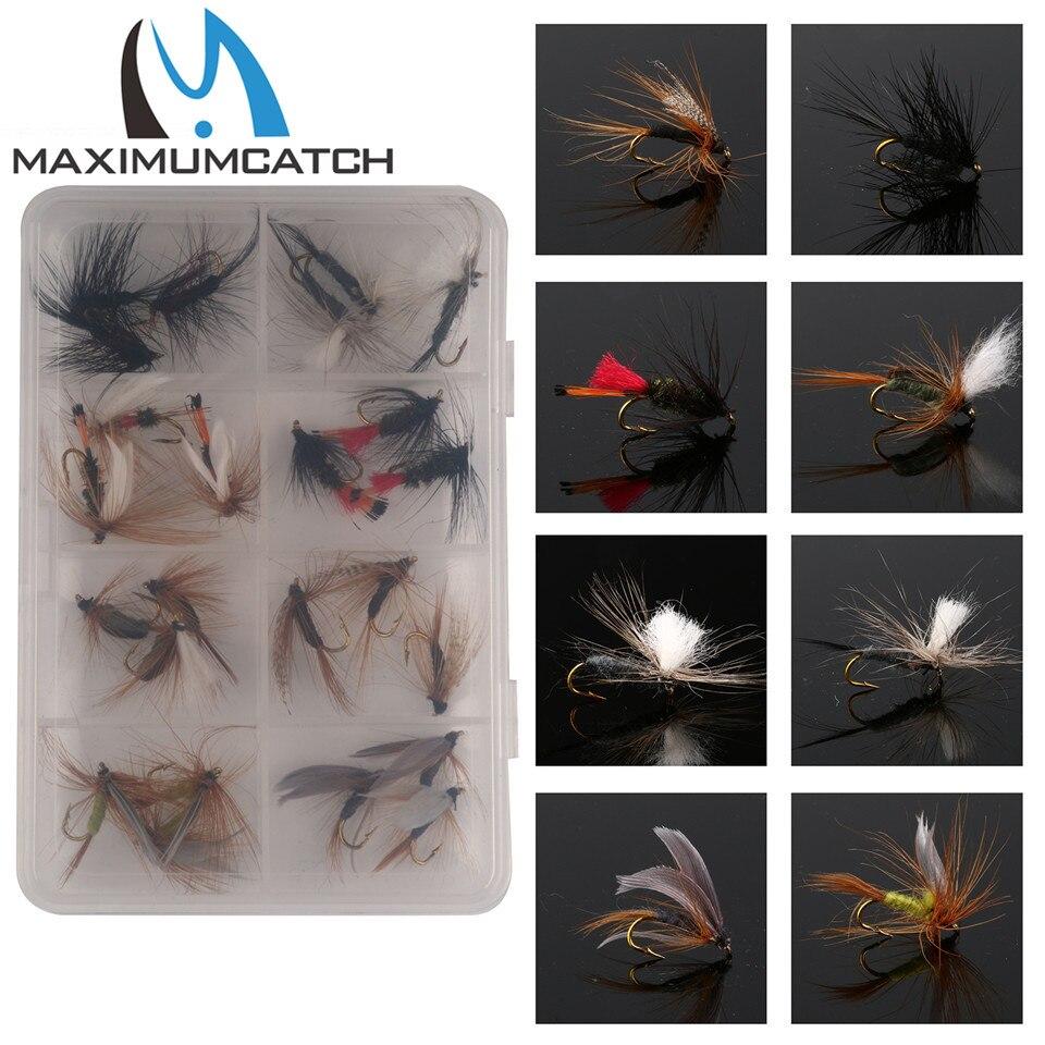 Maximumcatch 24 Piezas Mixtas de Moscas Secas Pack/set Pluma Anzuelo Mosca Mosca