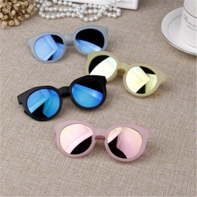 Fashion Brand Kids Sunglasses Black Children's sunglasses Anti-uv Baby Sun-shading Eyeglasses Girl Boy glasses UV400