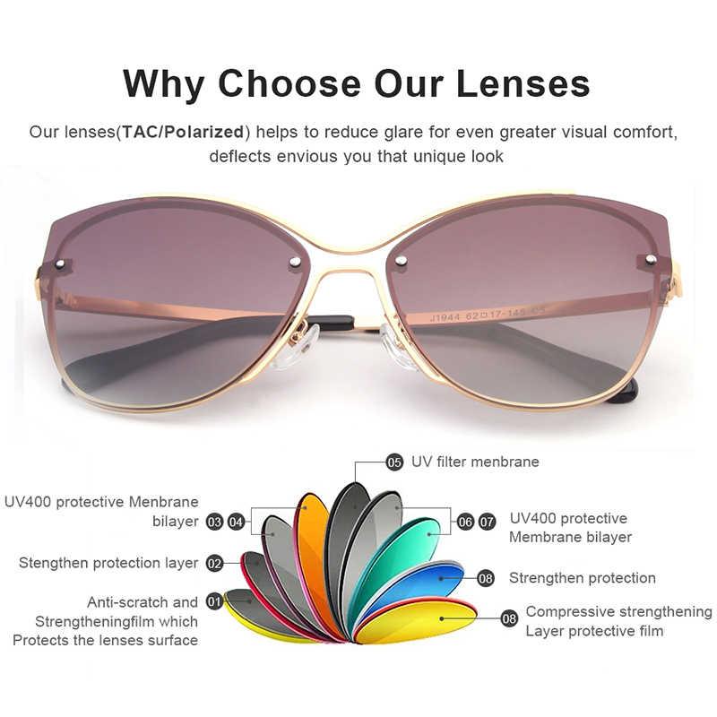 840e1df985 ... ANTEOJOS Women Vintage Glasses 2019 New Sexy Golden Color Polarized  Cateye Ladies UV400 Metal Sunglasses Lentes ...