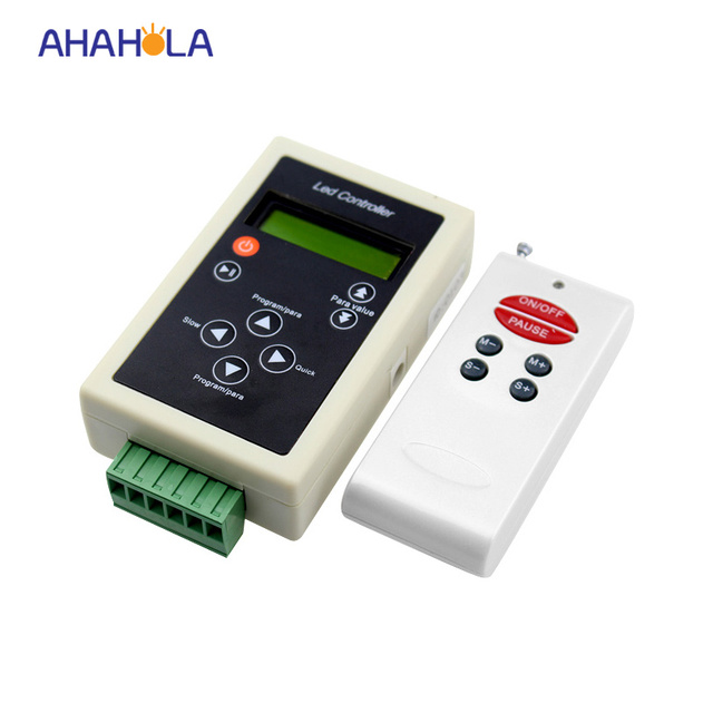 dc 5-24v ws2801 ws2812b ws2812 ws2811 controller for programmable led strip rf remote control max control 2048 pixel 83 modes