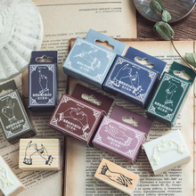 Wood Stamp 1Pcs Creative Gesture Figure Craft Wooden Rubber Stamps Decoration for Diary Scrapbooking Name Tag YZ002C
