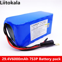 HK LiitoKala 24 V 6Ah 7S3P 18650 Battery 29.4 V 6000 mAh Lithium Ion For The Electric Bicycle