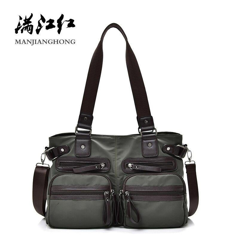 Mode Nylon sac à bandoulière femmes dames sacs à main Patchwork en cuir hommes Messenger sacs décontracté Crossbody sacs pour hommes homme sacoche