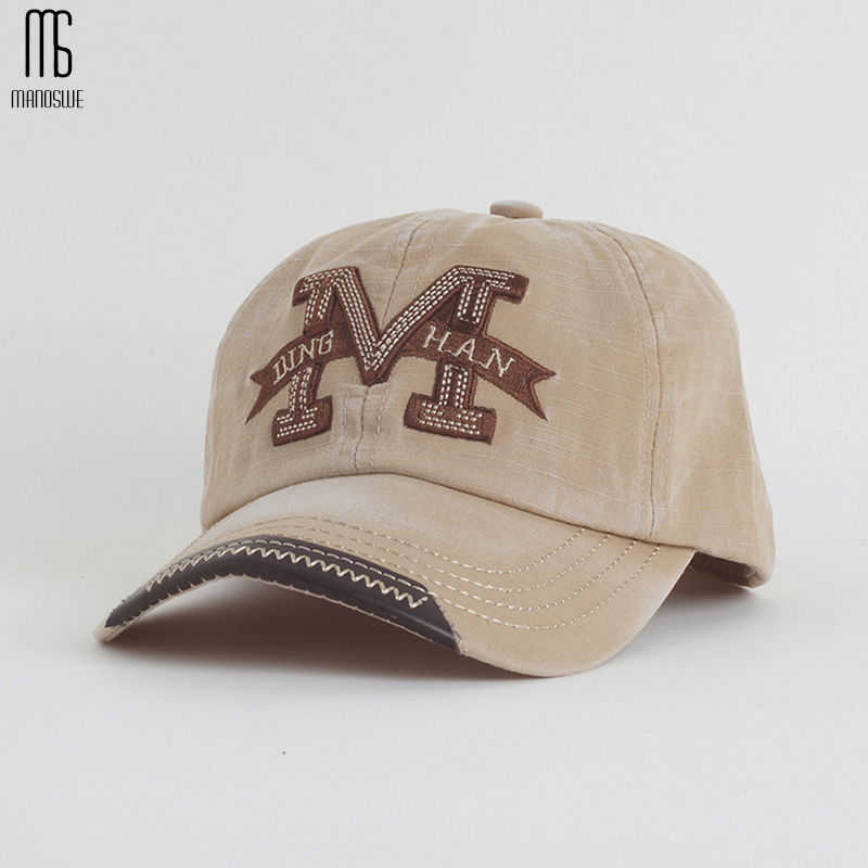 Bombažno vezenje črka W Baseball Cap Snapback Caps Kostna kašata - Oblačilni dodatki