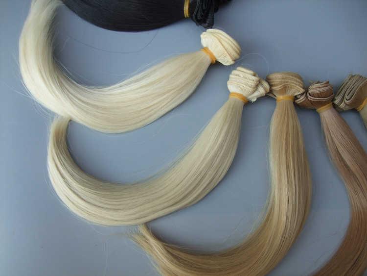 25センチ髪用テキスタイルインテリア人形、手作り人形ヘア生地の装飾アート人形かつら