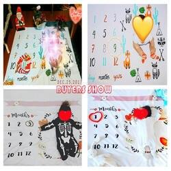 Детские Milestone одеяло s пеленки для новорожденного модные купальные полотенца цветочный принт Мягкий DIY младенческой Дети подставки для