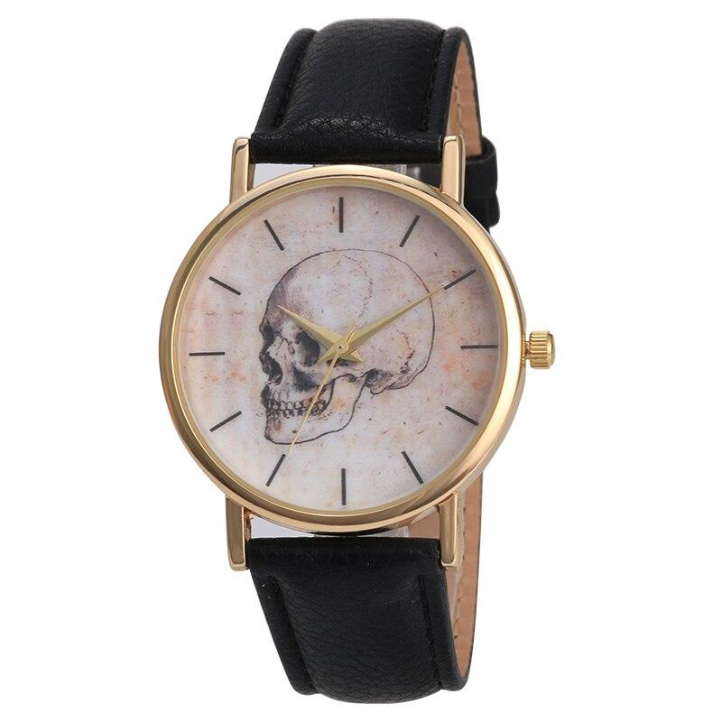 Skull Quartz Men Watches Luxury Waterproof Leather Sports Watch causal watch Relogio Masculino