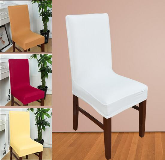 dining chair covers vintage bistro table and chairs aliexpress com buy hot colors spandex strech elastic for wedding party home deco cover on a 40 60cm