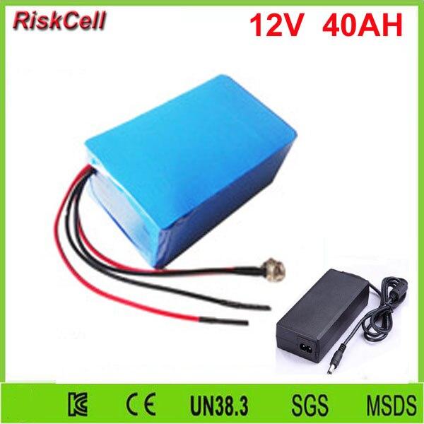 5 pcs/lot lithium ion batterie 12 v li ion batterie 12 v 40ah lithium batterie pour LED bande, CCTV/caméra IP, couverture chauffante/vêtements