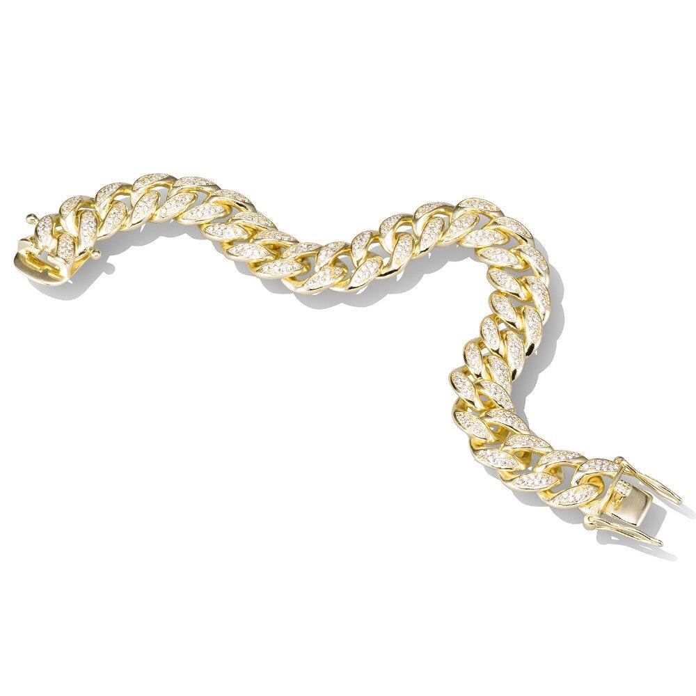 VANAXIN 925 سوار فضية للرجال النساء AAA مايكرو تمهيد تشيكوسلوفاكيا الكريستال مجوهرات الذهب/أسود اللون عالية الجودة هدية مربع-في سلاسل وأساور من الإكسسوارات والجواهر على  مجموعة 2