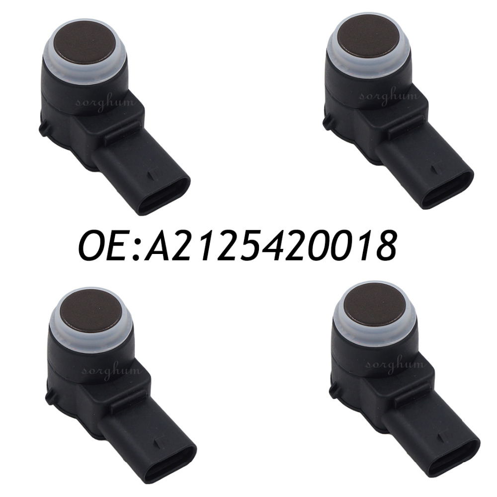 4PCS PDC Parking Sensor Fits Mercedes Benz W245 W204 W212 W221 2125420018 0263013270 A2125420018 mercedes w216 w221 parking brake shoe set x4 shoes springs clips emergency