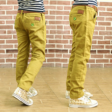 2017 Fashion casual pants solid color loose pants autumn boys 100 cotton trousers for kids straight