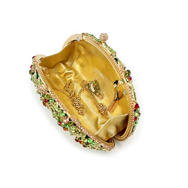 Mariage Cristal Perlé Sac Or Perlée Diamant Soirée Strass Petit Bandoulière Or Sacs Vert À vert Femmes Chaîne D'embrayage Rétro De qfzpxE