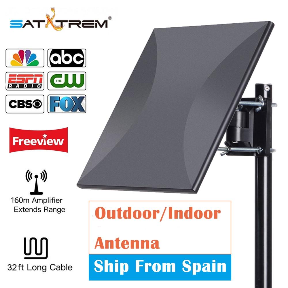 SATXTREM HDTV Antenne Numérique 160 Miles Gamme En Plein Air Intérieur Réception Du Signal avec Amplificateur Booster 32.8ft câble Tv Antenne