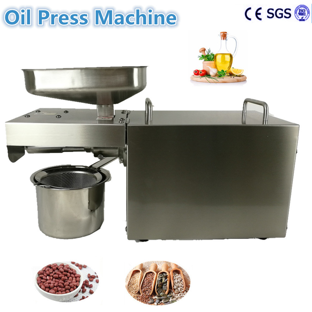 Free Ship  Home seed sunflower almond expeller coconut cold oil press machine small seed sunflower threshing machine sunflower seeds thresher sheller