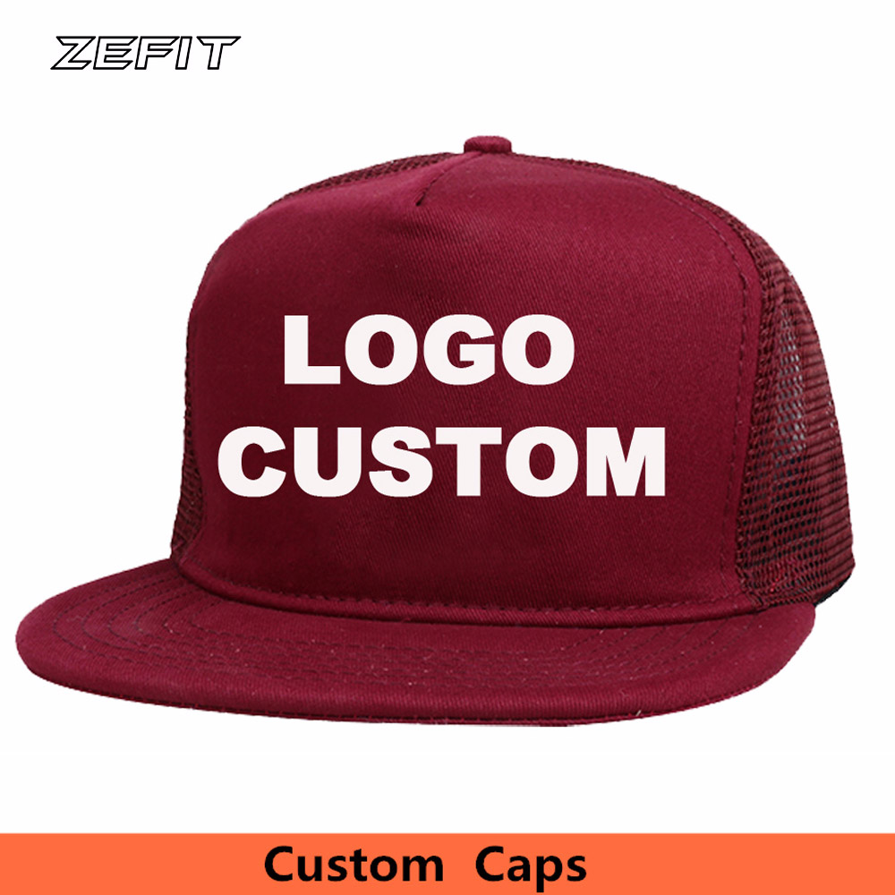 08a1d6c85b2 China Manufacturer 5 panel trucker cap snapback baseball nylon mesh hat Flat  bill free 3D or