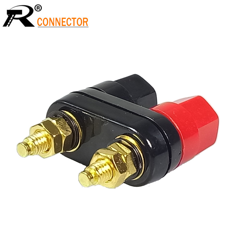 цена на High Quality Binding Post Red Black Connector Banana plugs Couple Terminals Amplifier Speaker Banana Plug Jack