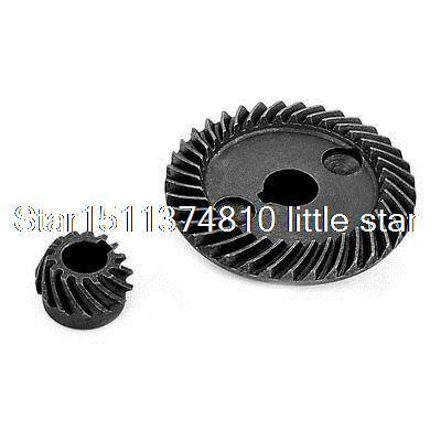 Angle Grinder Power Tool Gray Metal Spiral Bevel Gear Set repair Tool set of driven cambered angle gear