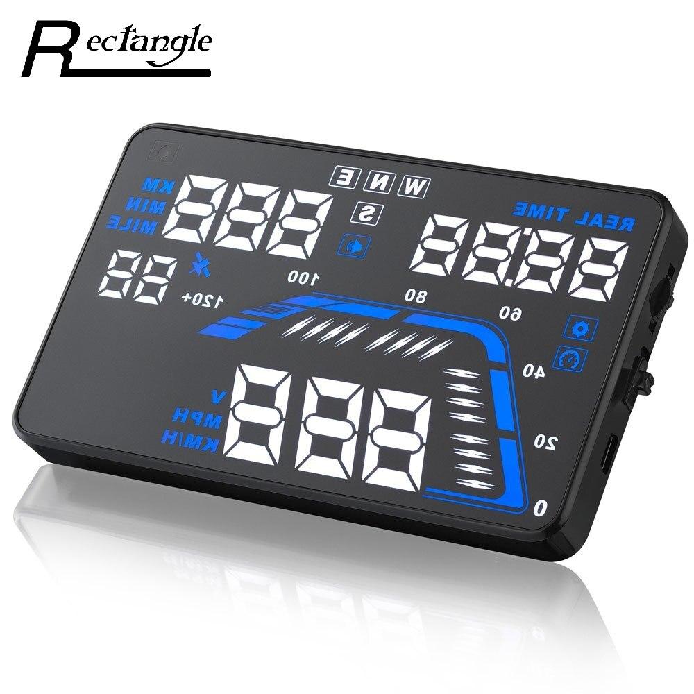 Promotion!!! 5.5'' Universal Q7 Auto Car HUD GPS Head Up Display Speedometers Overspeed Warning Dashboard Windshield Projector