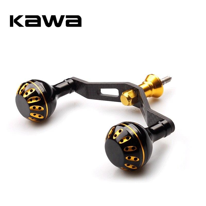 Kawa 2019 Fishing Reel Handle Double Handle With Aluminum Alloy Knob Suit Shimano Reel Carbon Fiber