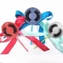 BES 50 Pairs 3D Eyelashes Extension Lollipop Package False Natural Soft Mink Lash Full Strip