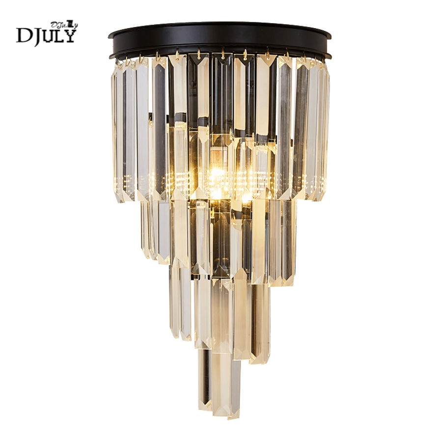 American luxury k9 crystal bedroom bedside led wall lamp home deco villa hotel vanity light indoor lighting stairs wall sconcesAmerican luxury k9 crystal bedroom bedside led wall lamp home deco villa hotel vanity light indoor lighting stairs wall sconces