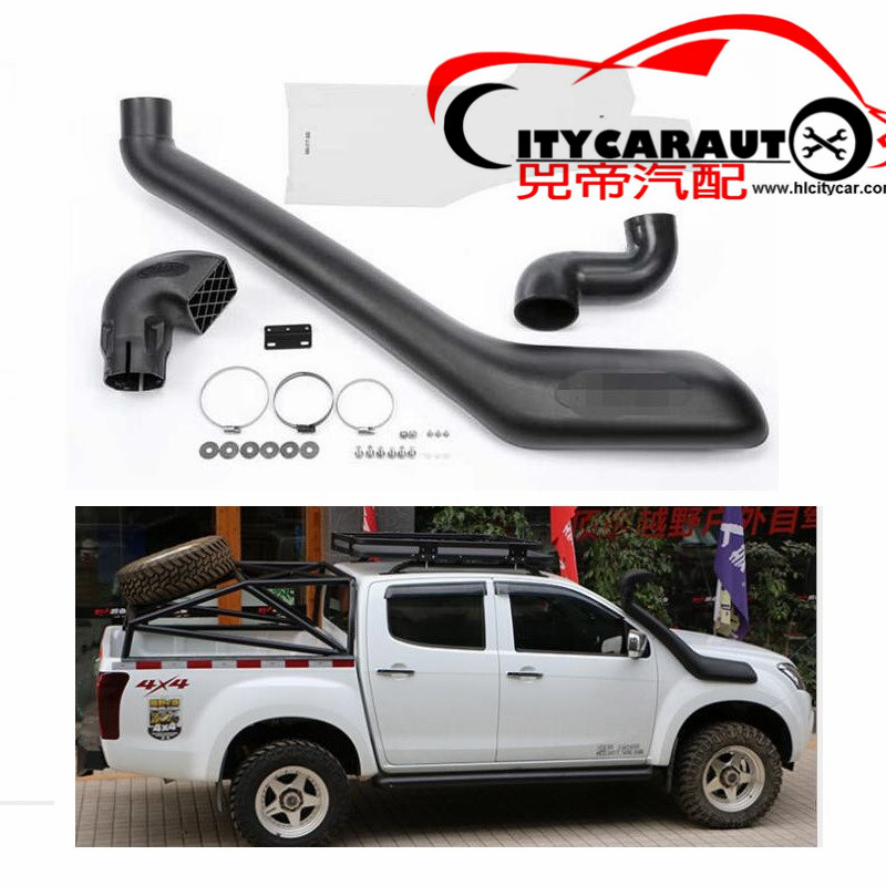 CITYCARAUTO AIR FLOW SNOKEL KIT Fit FOR D-MAX 2012.6-2017 Wildtrak Air Intake LLDPE Snorkel Kit Set 4X4 4WD DMAX 4JJ1-TC 3.0 cnspeed air intake pipe kit for ford mustang 1989 1993 5 0l v8 cold air intake induction kits with 3 5 air filter yc100689