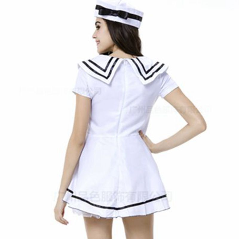 Womens Navy Sailor Halloween Costume Plus Size Cosplay Costumes Maid
